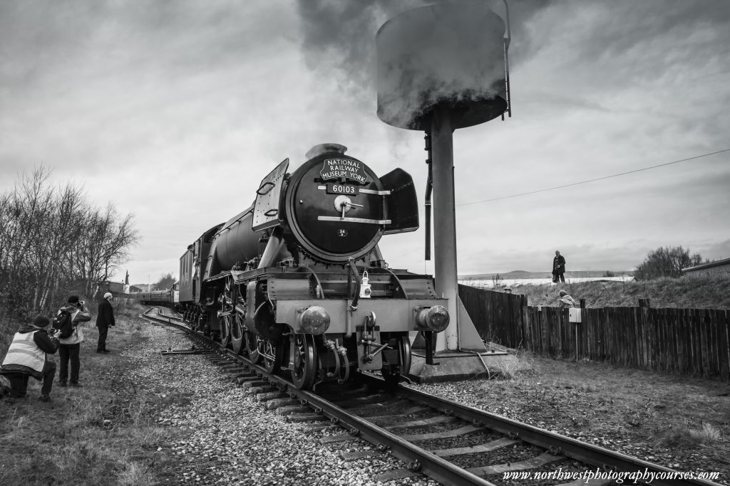 Photographing the Flying Scotsman